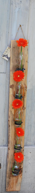 plank met vaas maken