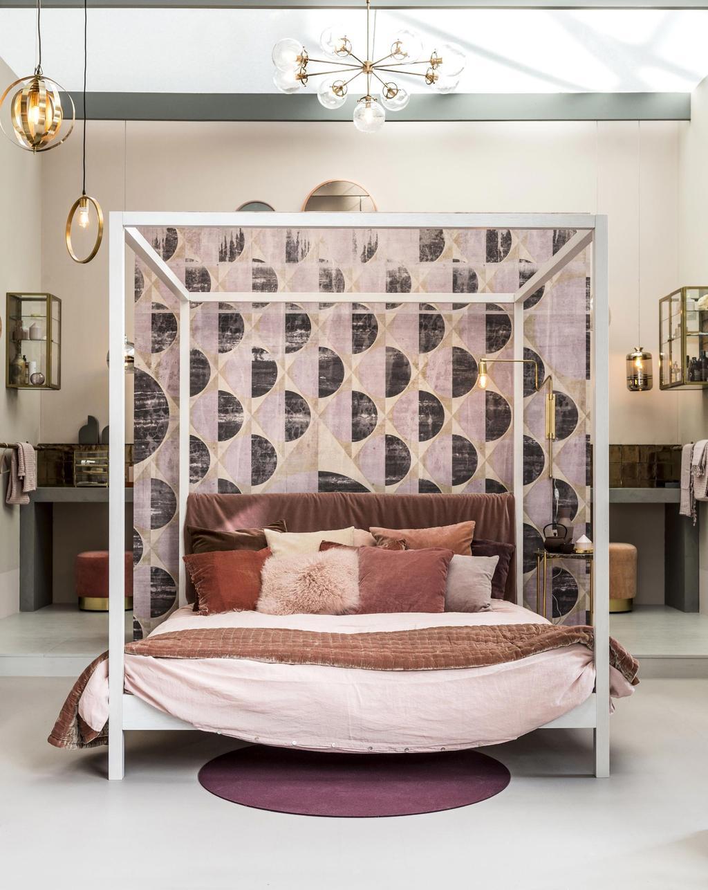 Roze slaapkamer vt wonen&design beurs 2017