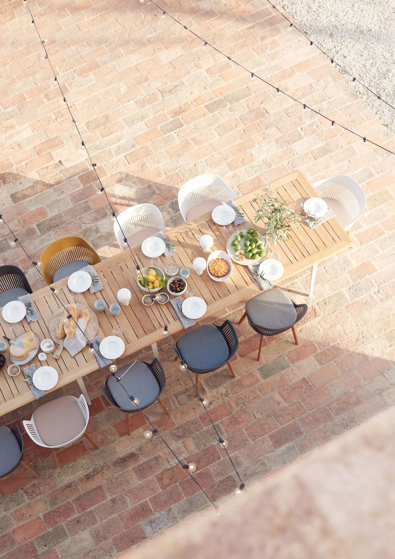 Volledige tafelstyling met de Dedon collectie van Hanolux