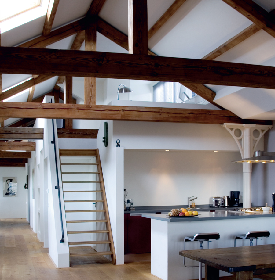 Keuken op zolder