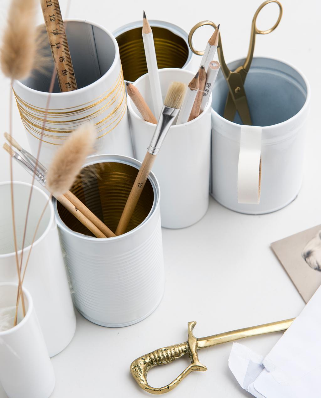 vtwonen 1-2020 | DIY small pennenbakje goud accent brievenopener