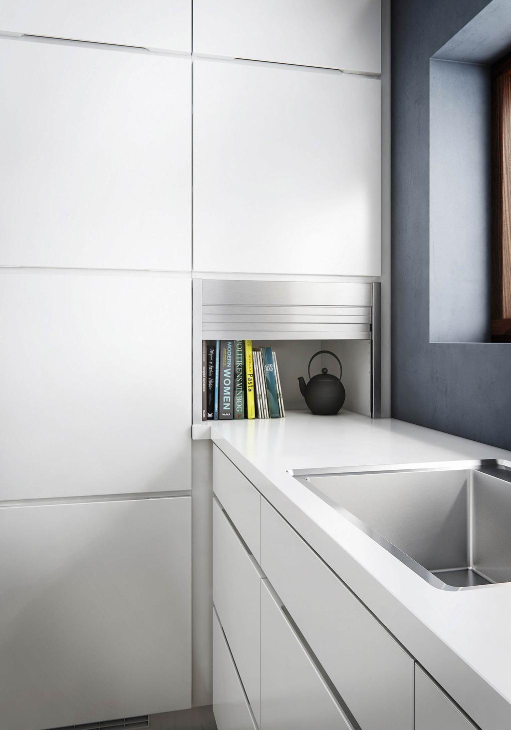 Witte keuken met witte kastjes KVIK