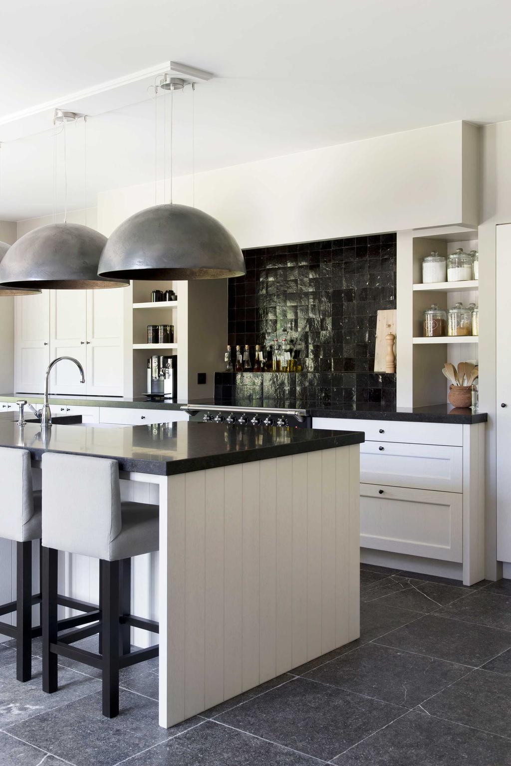 keukeneiland zwart wit