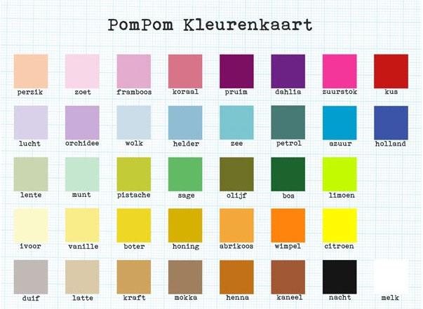 kleuren pompom