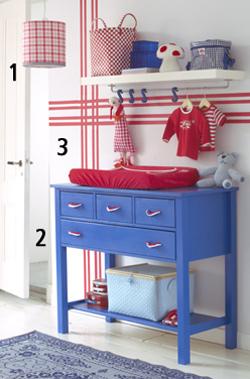 rood wit blauw babykamer