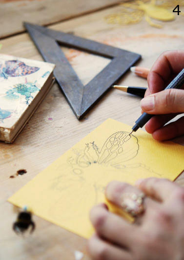 tekening insect