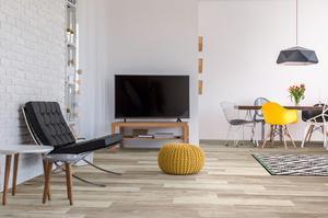 Licht houten vloer