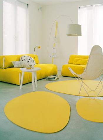woonkamer geel