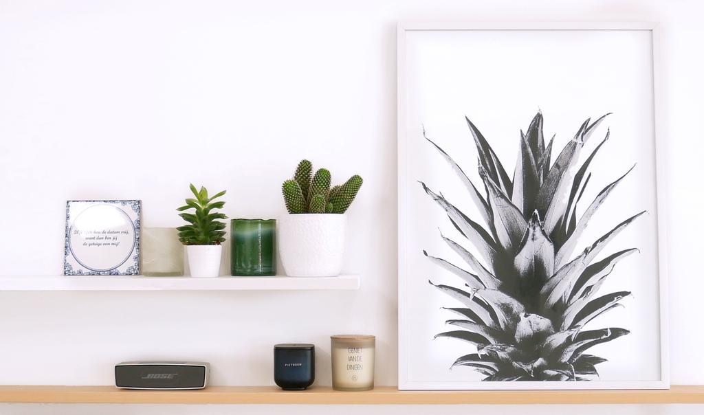 vtwonen-voorjaarshuis-favorieten-aurelie minimalistic wall art poster pineapple crown b2
