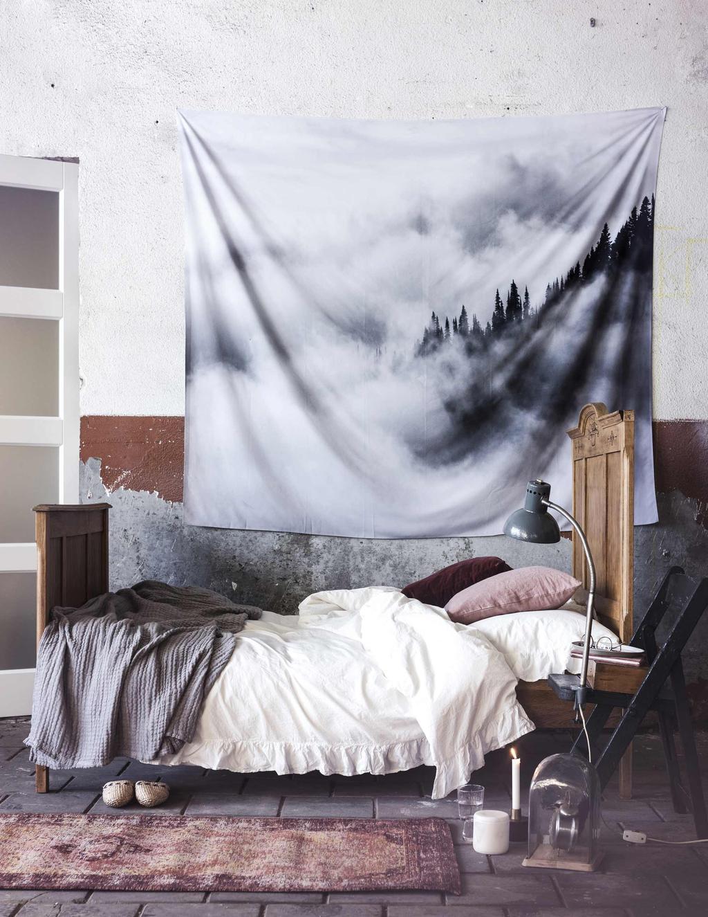 Slaapkamer - Stenen muur - Bed