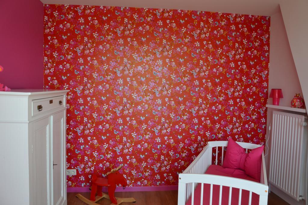 rood behang