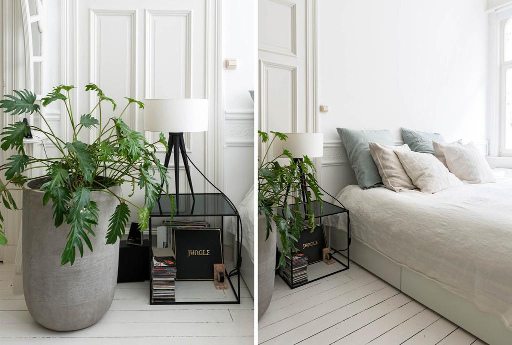 Plant in de slaapkamer