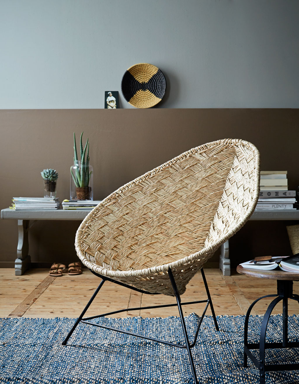 rieten loungestoel