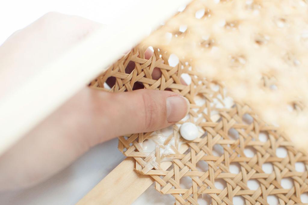 DIY: rotan webbing tafellamp - Detail - Stappenplan - vtwonen