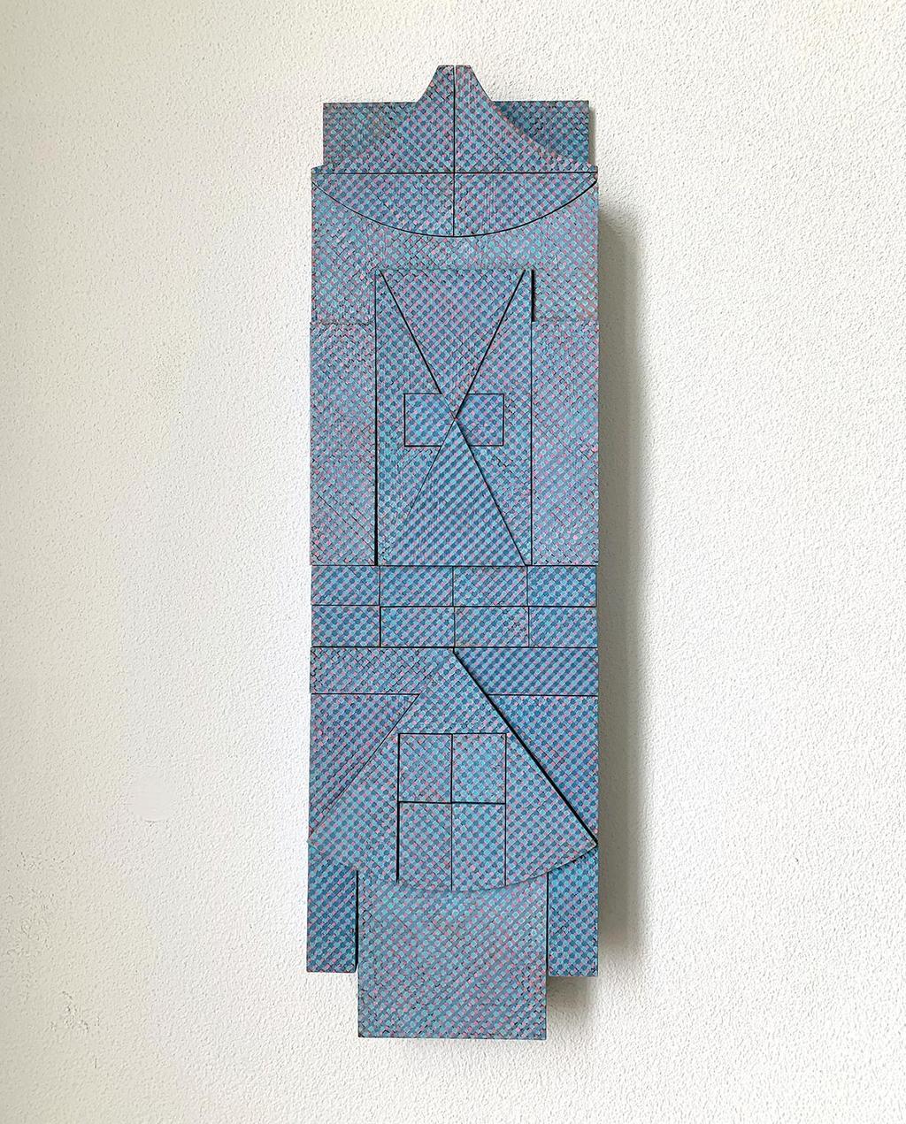 vtwonen 09-2020 | blauw 3d kunstwerk