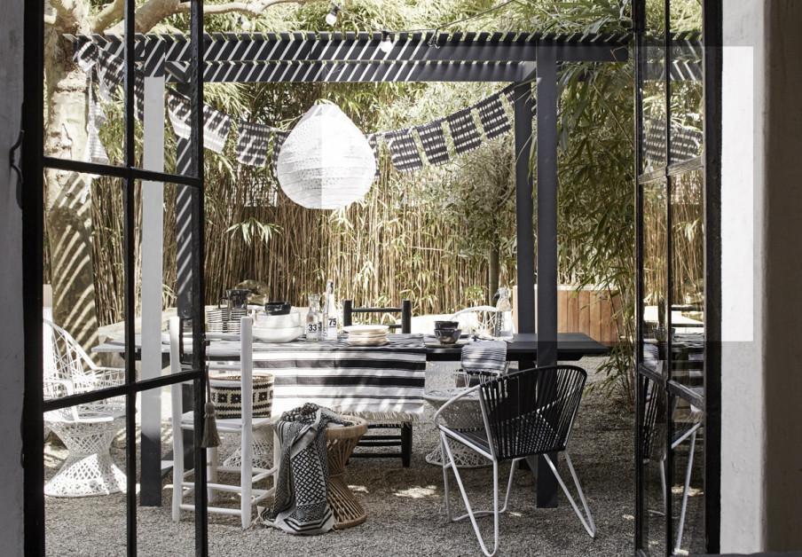 terrasse bambous noir et blanc