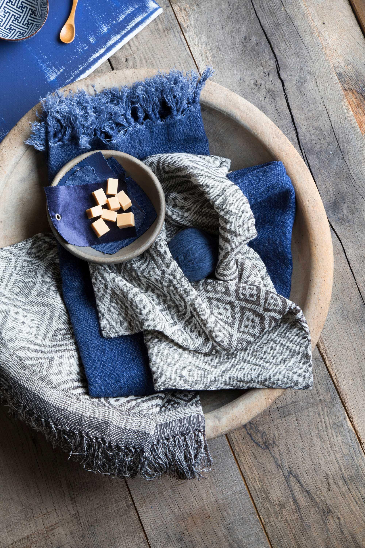 plat bleu plaid