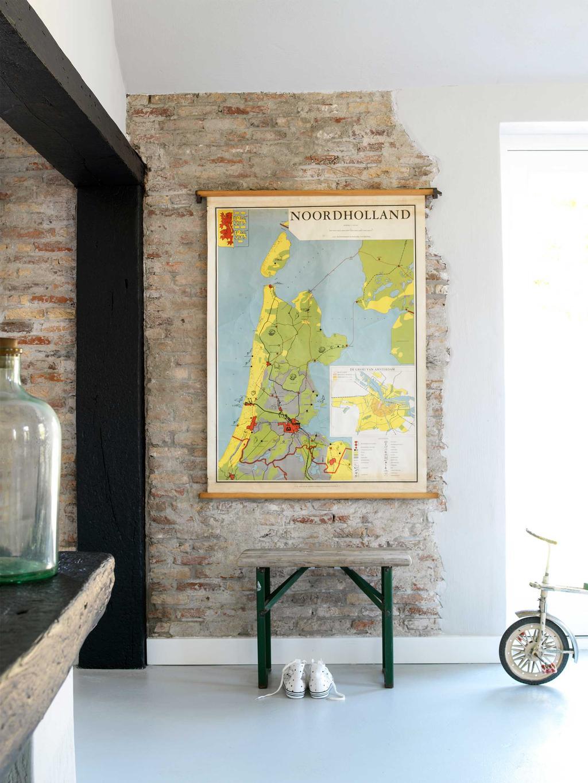 Vintage landkaart