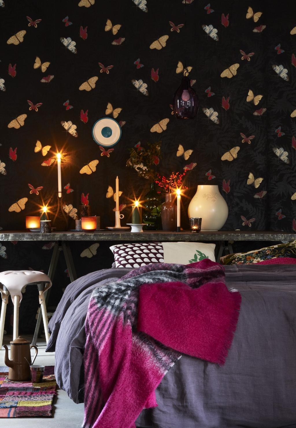 Slaapkamerideeën: creëer meer sfeer met een printbehang