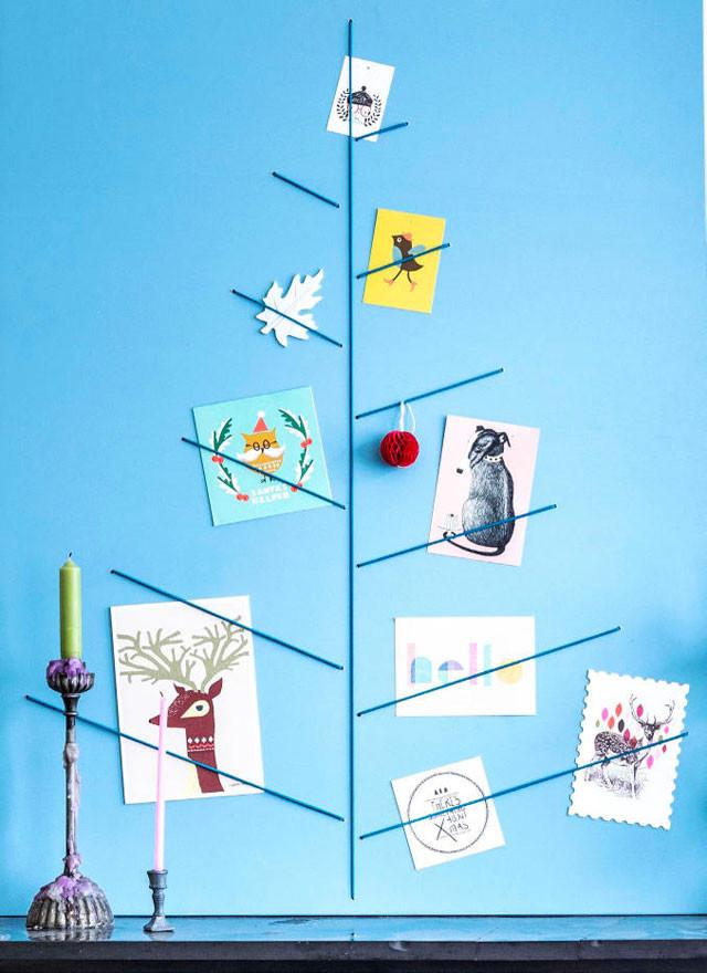 Kaartenbord kerstboom