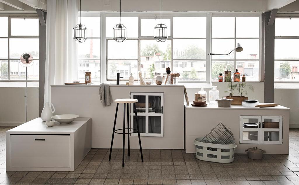 Lichte keuken in grijs-wit tinten