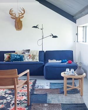 aardekleuren woonkamer