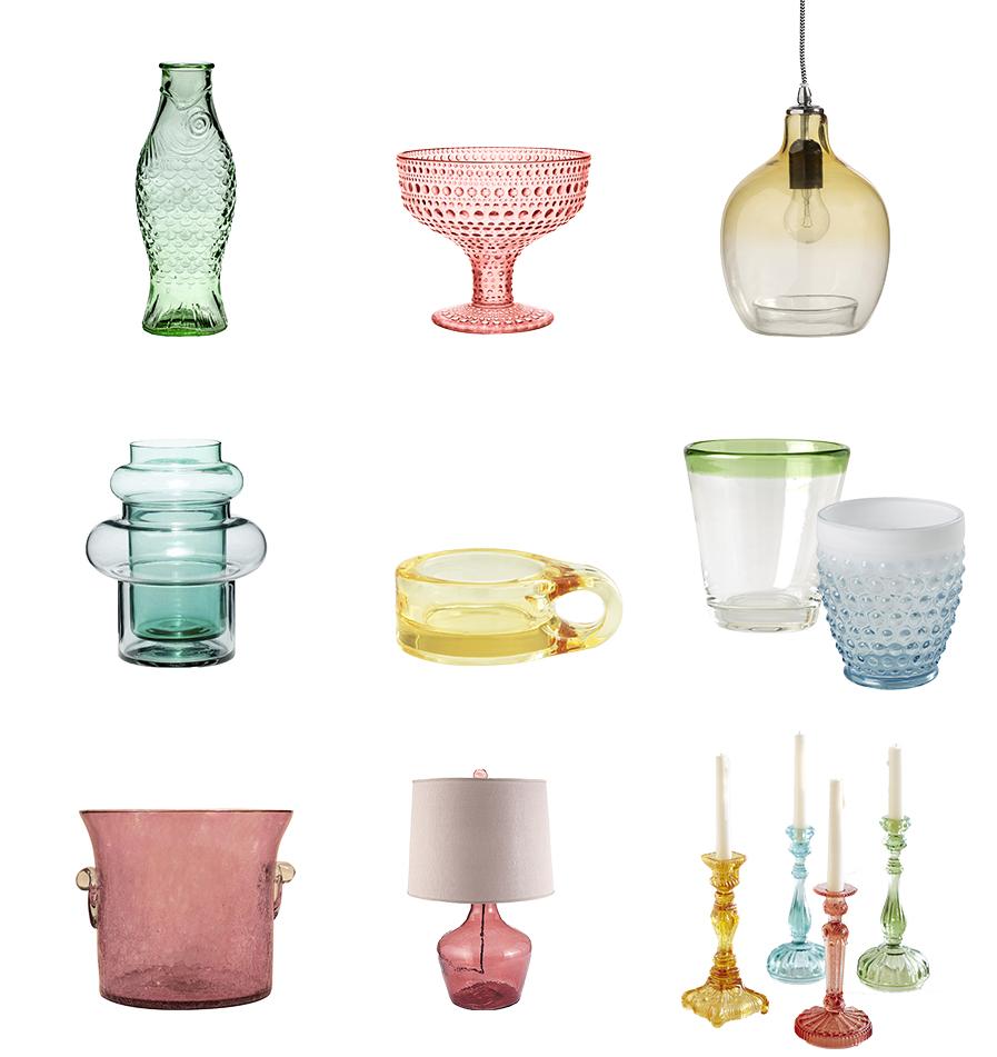 collage gekleurd glas
