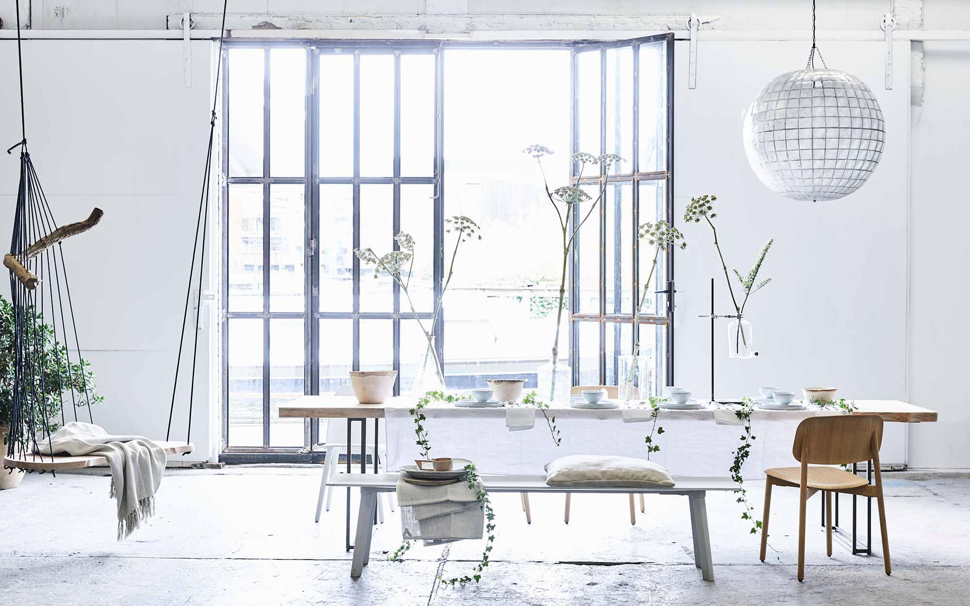 zomer zen eetkamer styling stylen met wit