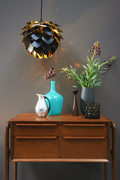 dressoir hanglamp vazen