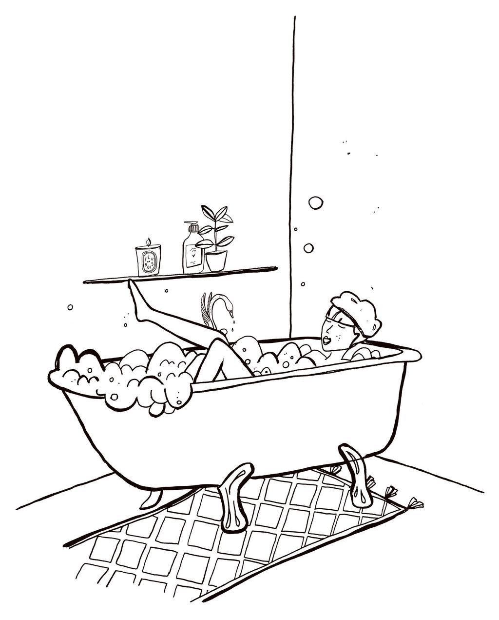 vtwonen-illustratie-badkamer-douche-bad-make-over-budget-dossier