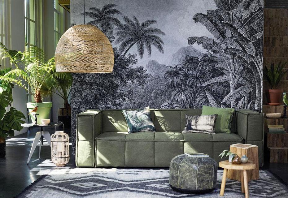 canapé-vert-décort-tropical