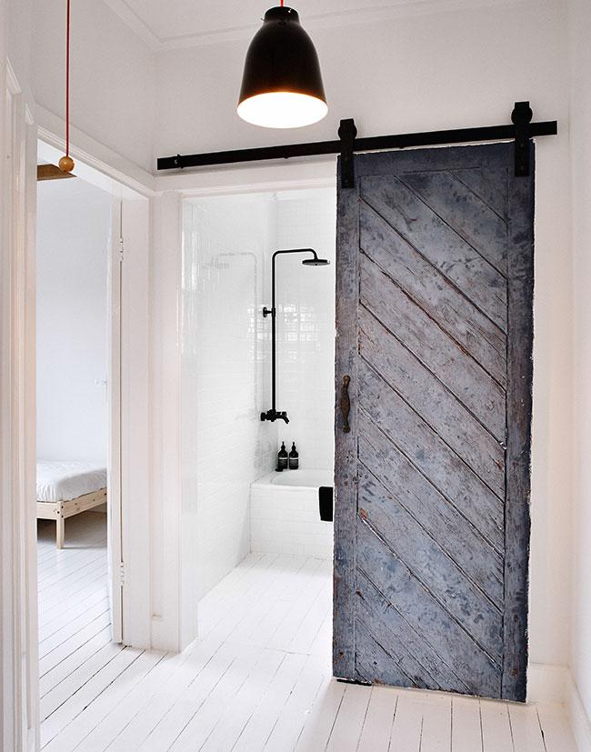 badkamer houten deur
