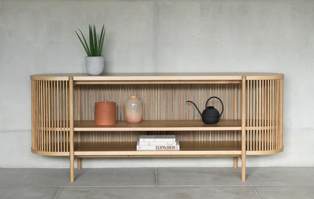 vtwonen studentdesign | laag dressoir van spijlen scandinavisch design