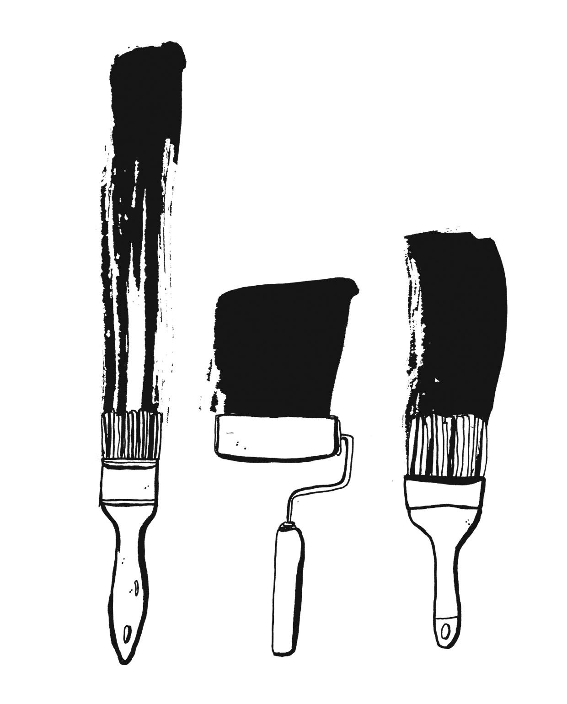 schilderen verven kwasten