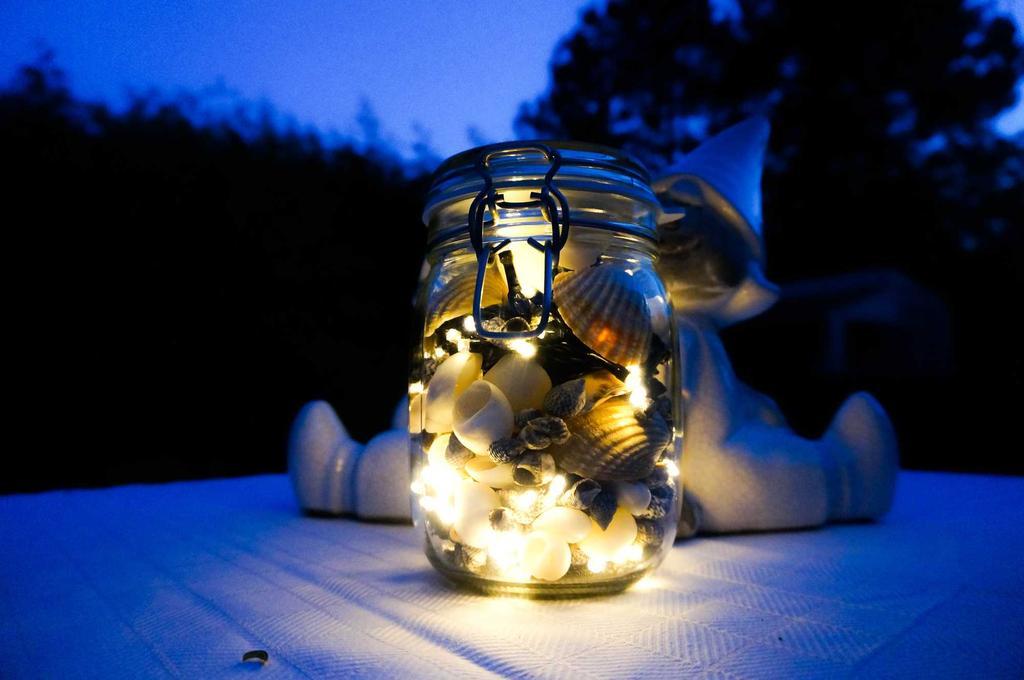 terraslicht schelp donker