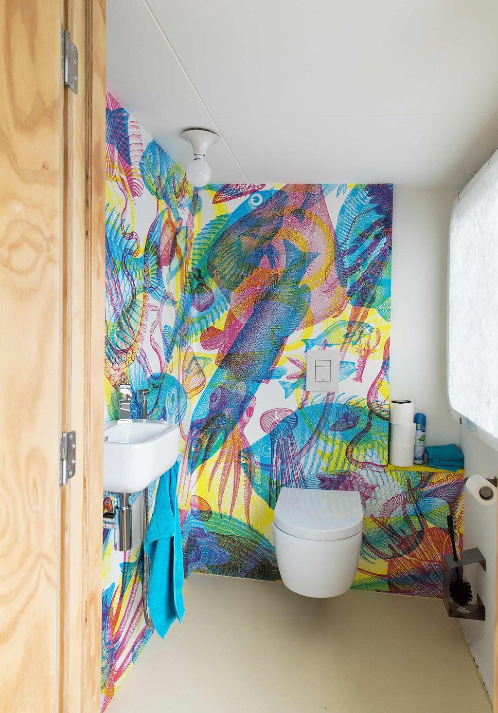 toilet behang