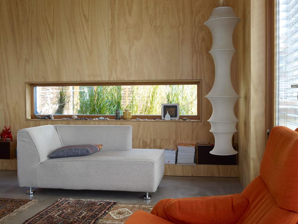 houten woonkamer