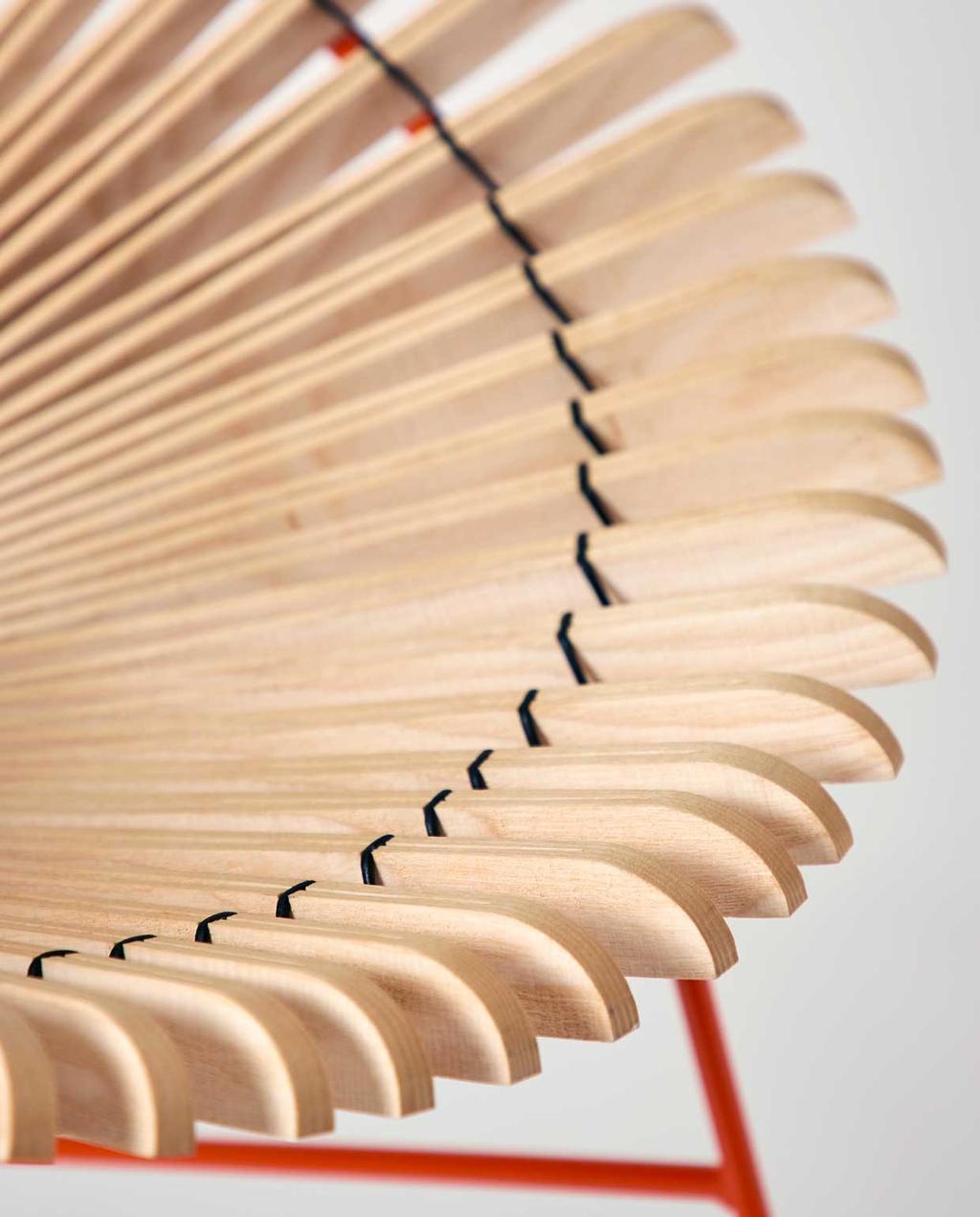 vtwonen | studentdesign | concertina-collectie | Huw Evans | details van de stoel