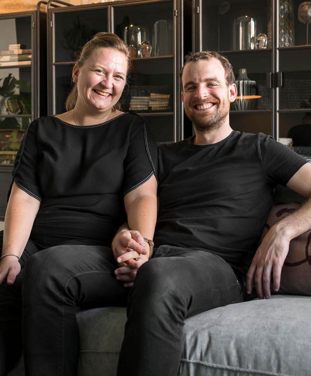 Lies en Matthias uit aflevering 3 van 'Een frisse start met vtwonen'.