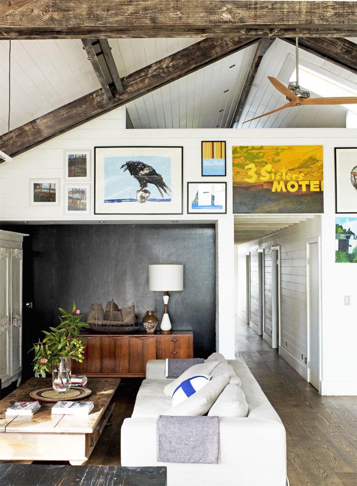 collage in de woonkamer
