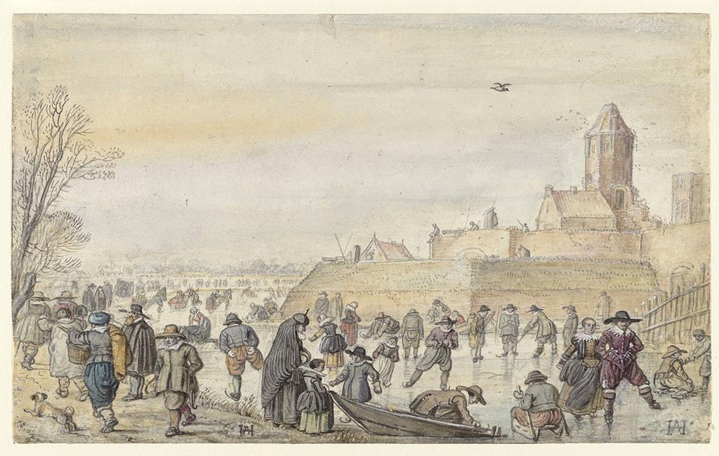 Schilderij van Hendrick Avercamp over het ijsvermaak in Kampen
