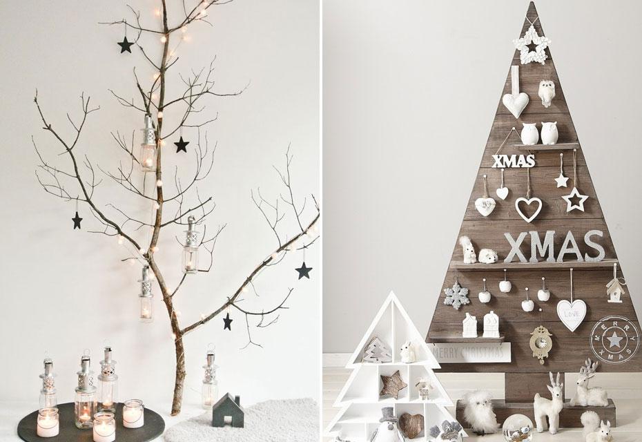 Styling: alternatieven voor de kerstboom - Kerstboom hout