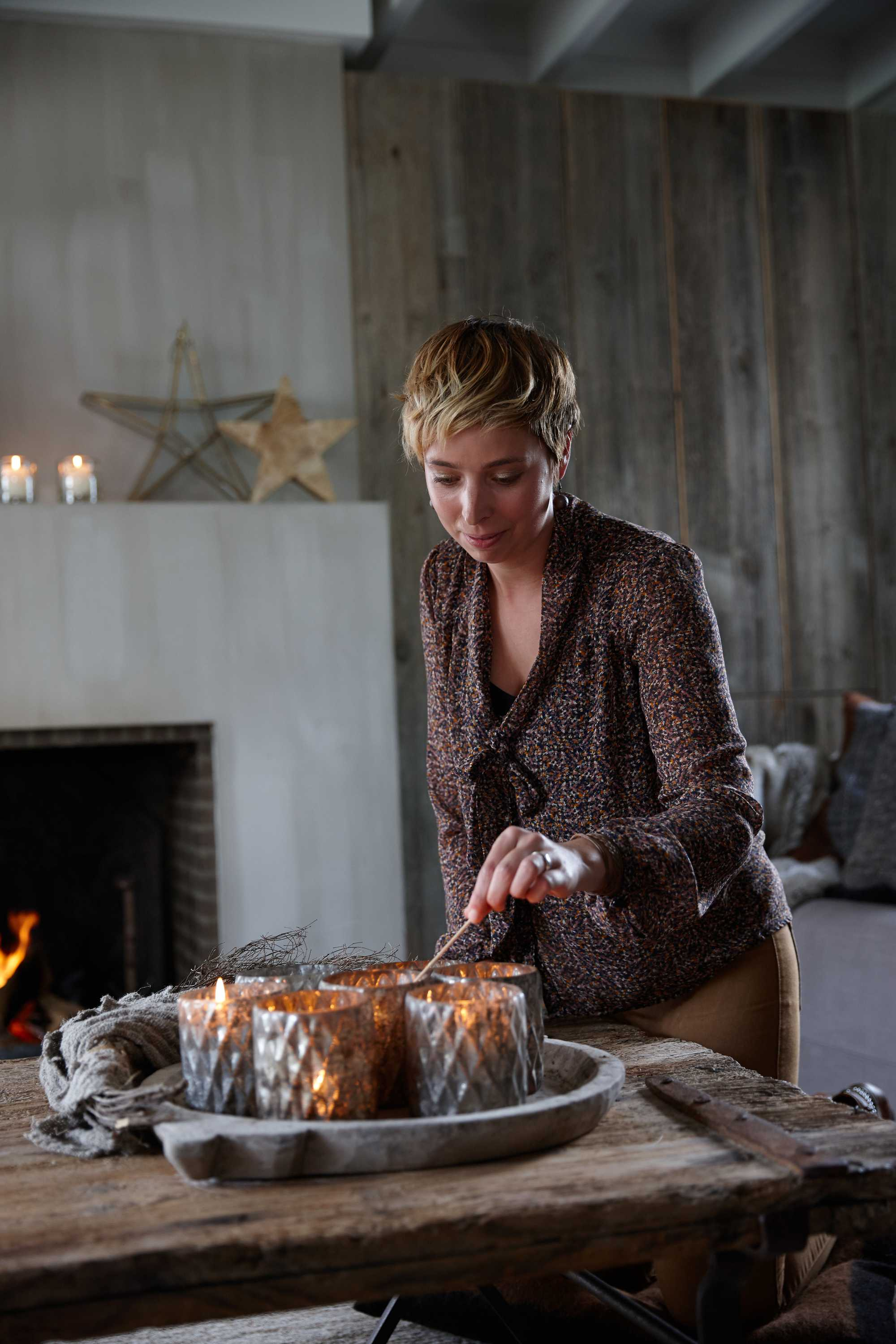 kerstspecial kerstshoot kaarsen tafel