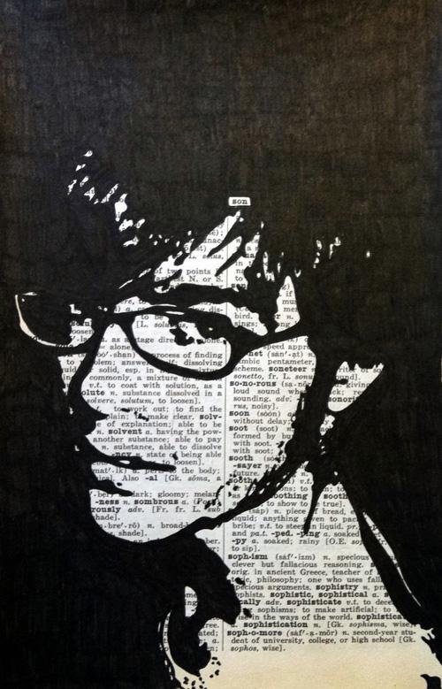 kunst op krantenpapier