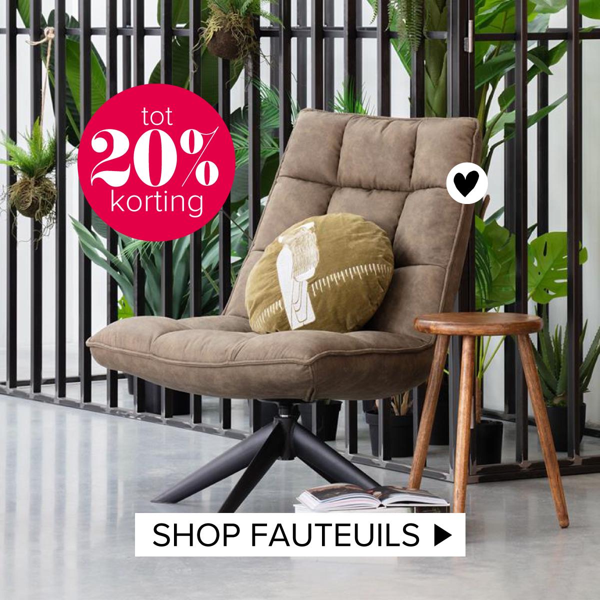 korting fauteuils