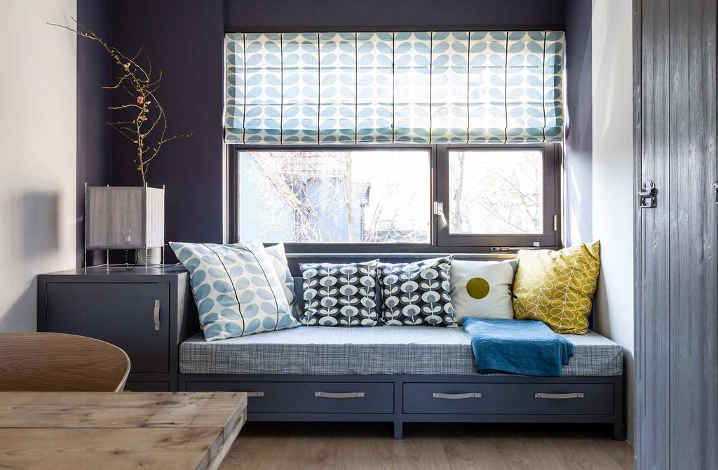 Warme loungehoek met verfkleur Climax van Histor
