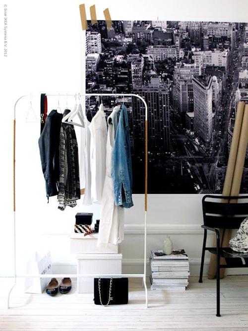 Ikea industrieel kledingrek