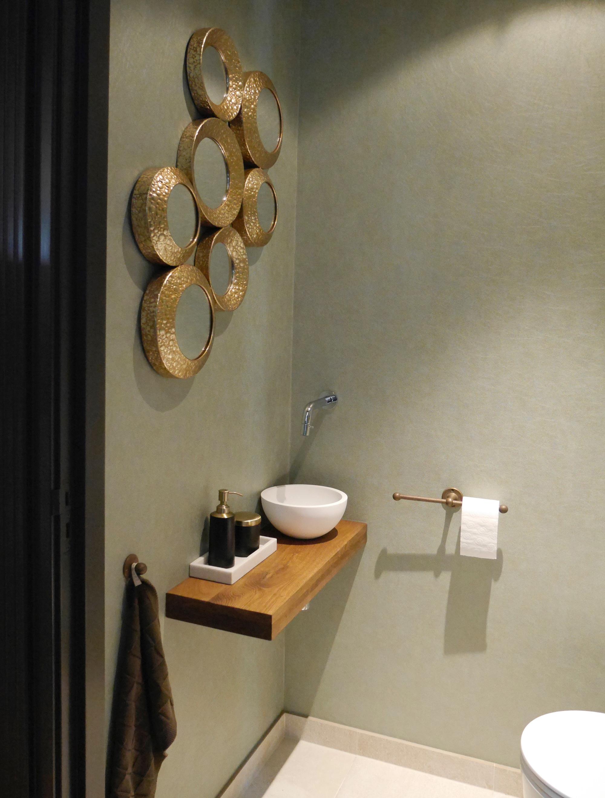 Badkamer gouden accenten