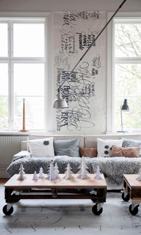 Typografisch behang zelf maken