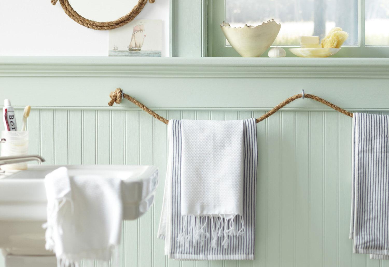5 manieren om je handdoek op te bergen - Touw